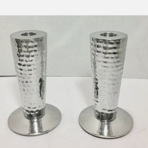 """Ambria """"Making Life Special"""" Silver Candle Holders"""